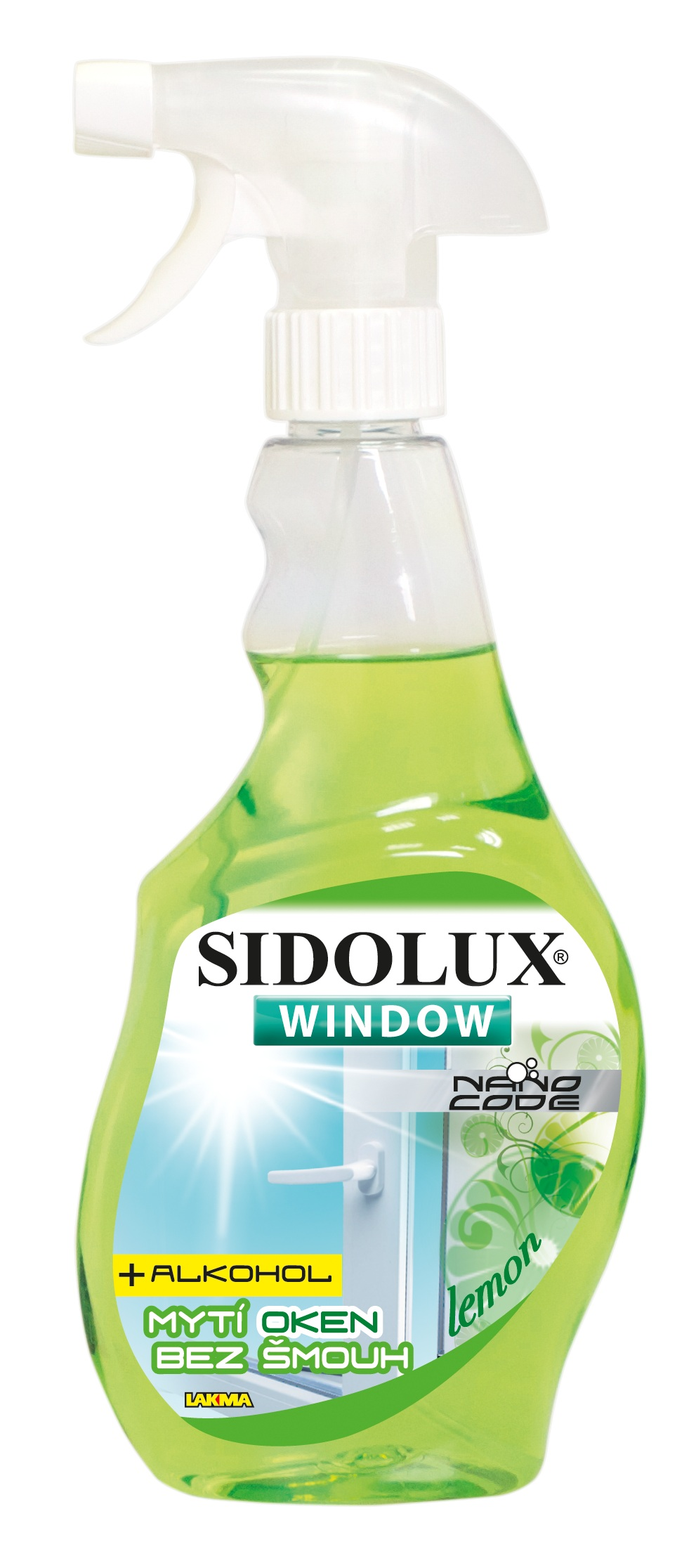 SIDOLUX WINDOW NANO CODE s vůní CITRONU 750ml