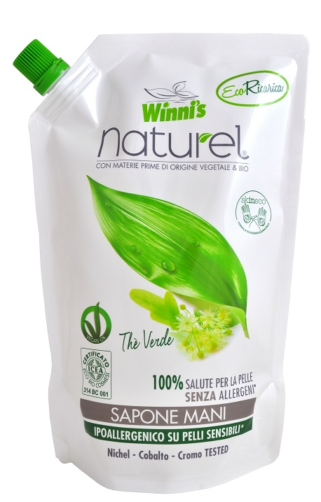 WINNI´S NATUREL Sapone Mani Thé Verde Ecoricarica 500 ml